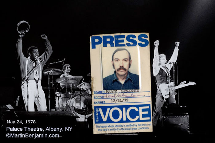 Martin Benjamin Village Voice Photo Pass