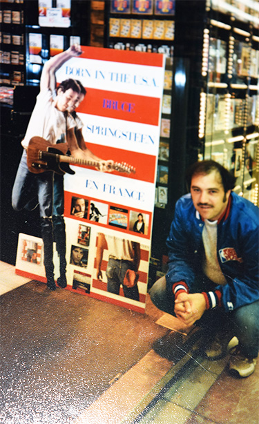 Paris record store, June, 1985.
